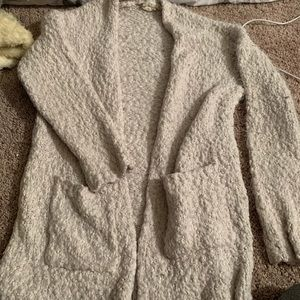 White fuzzy cardigan altar'd state size small